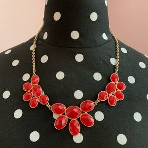 Fun and cute red statement necklace